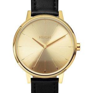 Nixon 'The Kensington' Watch Black Leather